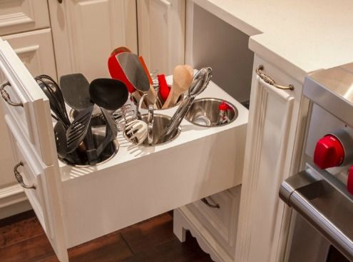 kitchen cabinet storage solutions | Kitchen Cabinets Storage Solutions: Simple, But Savvy ...