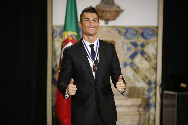 Cristiano Ronaldo presented top honor by country's President