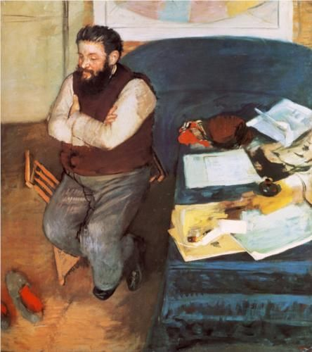Diego Martelli  - Edgar Degas---He was a influential with the Italian Impressionists;  MACCHIAIOLI---they were Pre-French Impressionists---look them up too.
