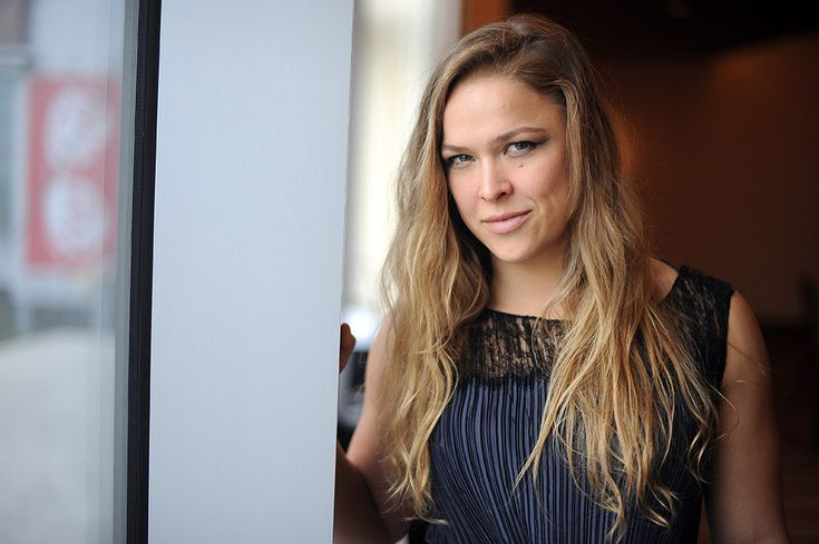 Portrait of Ronda Rousey who will take on Miesha Tate on Saturday hansgutknecht.com | photography by LA Daily News Photographer Hans Gutknecht