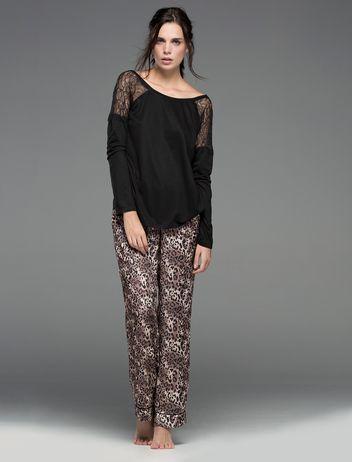 women'secret | Productos | Pijama largo con estampado de animal print