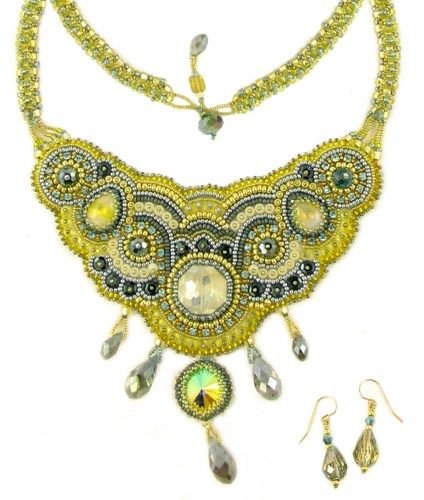 Lemon ice limited edition bead embroidery necklace kit by