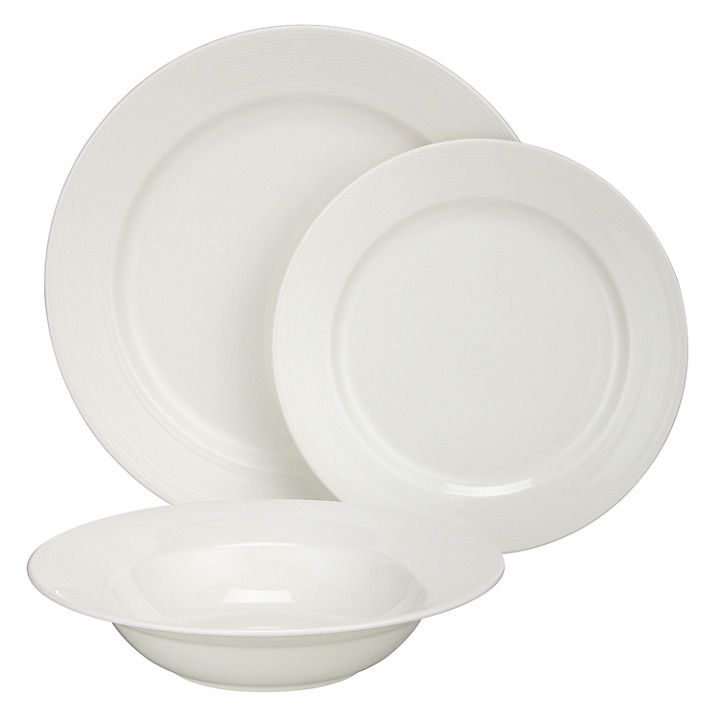 Buy John Lewis Croft Collection Luna Rim China Set, 12 Piece Online at johnlewis.com