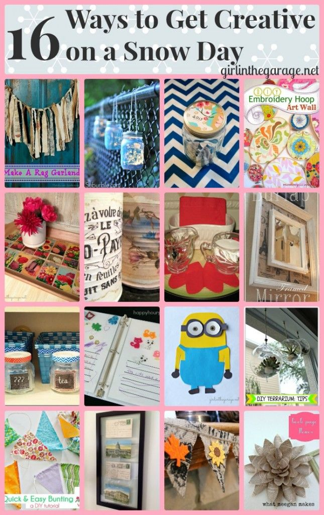 16 Ways To Get Creative On A Snow Day Easy Crafts And Home Decor Projects You Can Do In A Few
