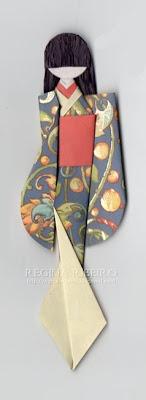 origami - geisha bookmark