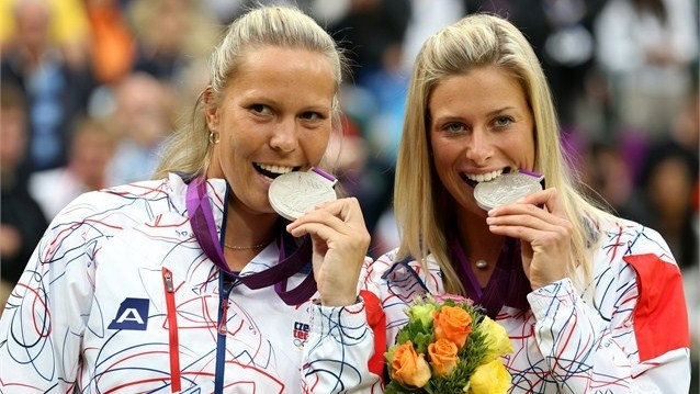 Czech women's #Tennis doubles pair Lucie Hradeka and Andrea Hlavackova win #silver