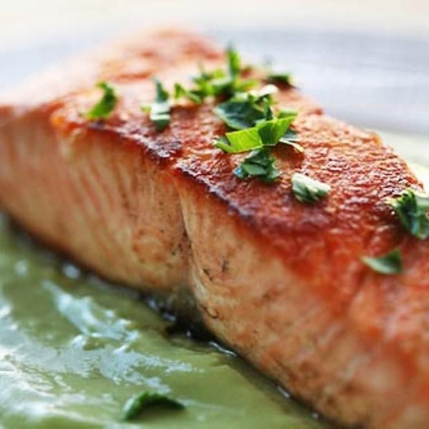 Pan Seared Salmon With Avocado Remoulade | Avocado's | Pinterest