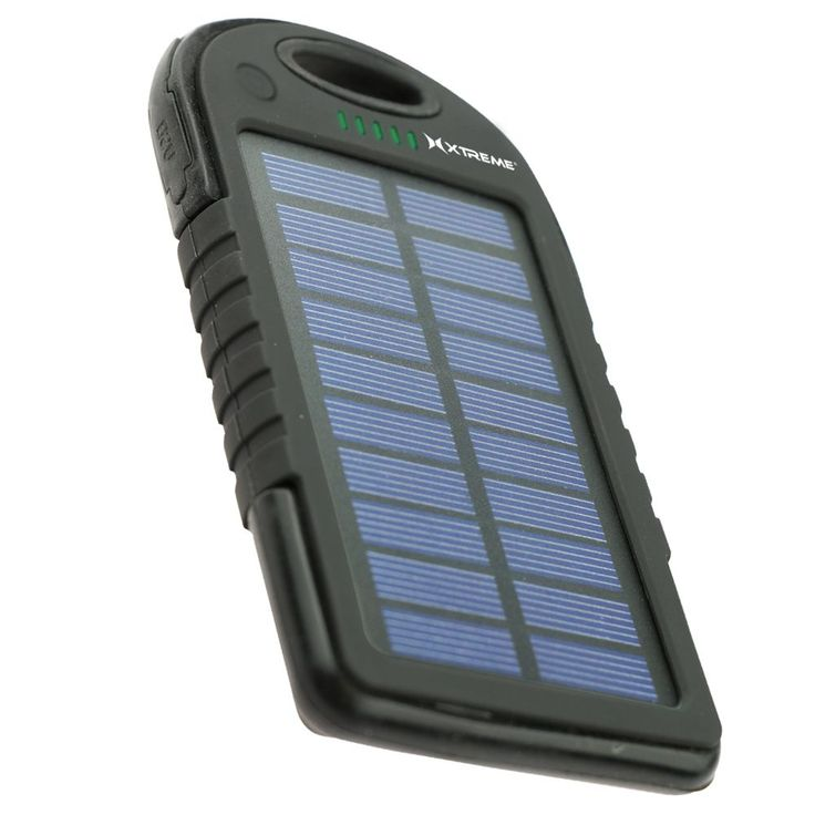 Xtreme 5,000mAh Dual-USB Outlet Solar Battery Power Bank with Built-in Flashlight #XBB8-1012