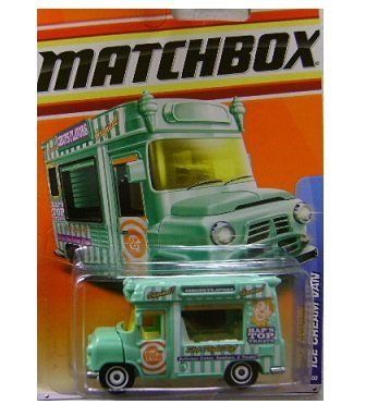 Matchbox 2011, Ice Cream Van (Green) 63/100. City Action. 1:64 Scale. by Mattel. $1.99. Ages 3 and up. 1:64 Scale die cast. Ice Cream Van Green