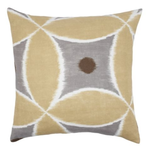 "Sula Pillow 24"" - Pewter from Z Gallerie #zgallerie. This pillow would look great on the sofa, chair, or chaise, and add color to the room in a fun way."