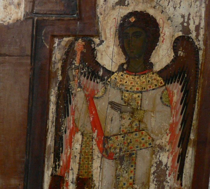 Archangel Gabriel. Georgian Icon from Svaneti.