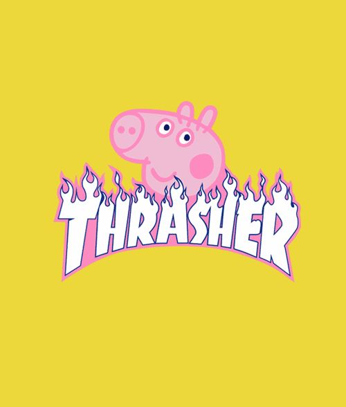 Peppa Pig X Thrasher Parody T Shirt in 2020 Funny iphone