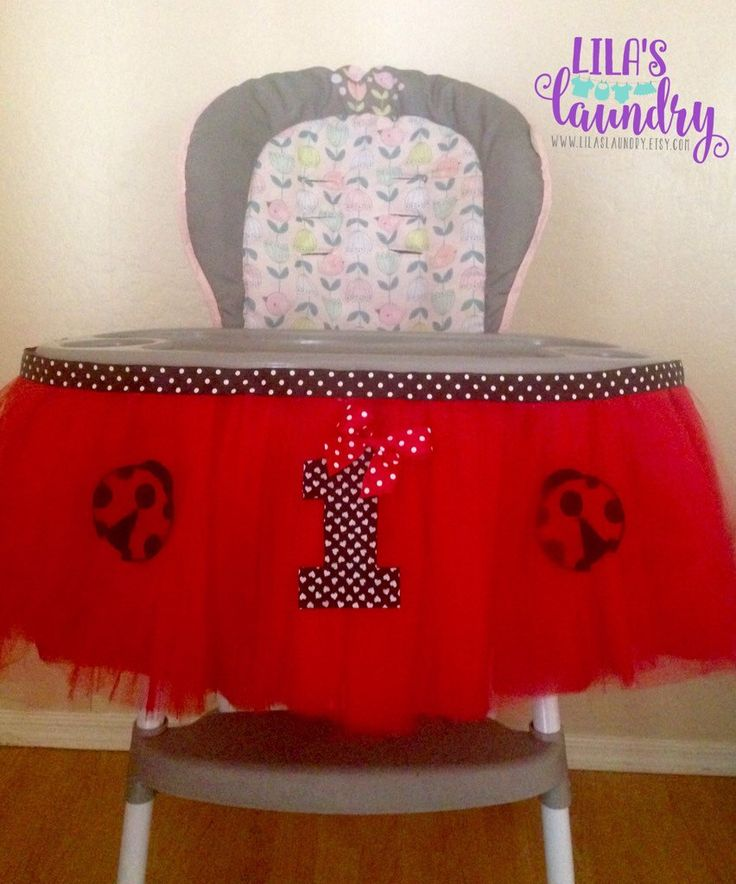 A personal favorite from my Etsy shop https://www.etsy.com/listing/153789750/ladybug-highchair-tutu-decoration