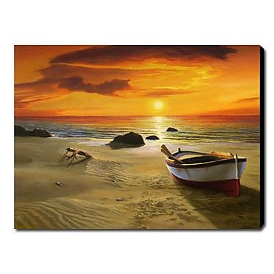 Hand-painted Landscape Oil Painting - Sunrise at seaside