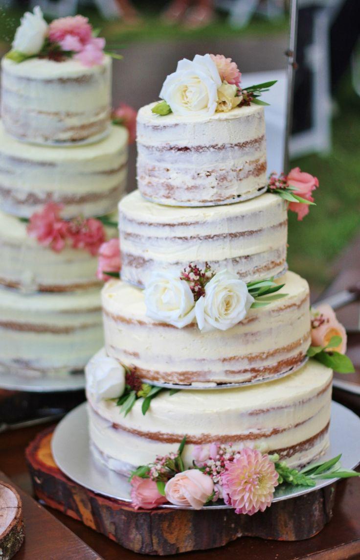 naked wedding cake Tartas de boda Pinterest Wedding