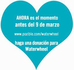ahora es el momento antes del 9 del marzo haga una donacion para Waterwheel http://pozible.com/waterwheel