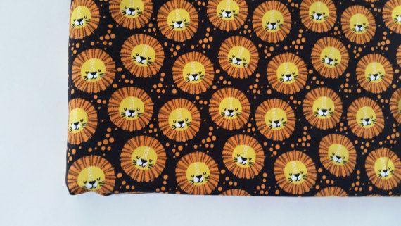 Sun Lion Retro Jersey Cotton.  Knit fabric cut by CaboodleTextiles