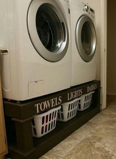 Verhoogde wasmachine