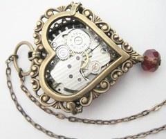 Steampunk heart locket