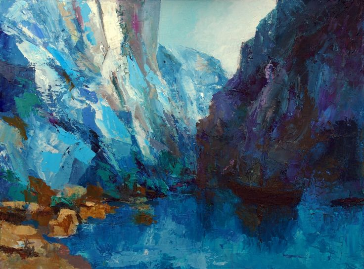 Postcard From Oputia: The Cliffs Of Glass, Oil painting by Brian Hanson | Artfinder