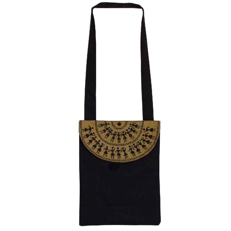 Warli Cotton Bag - Cream and Black