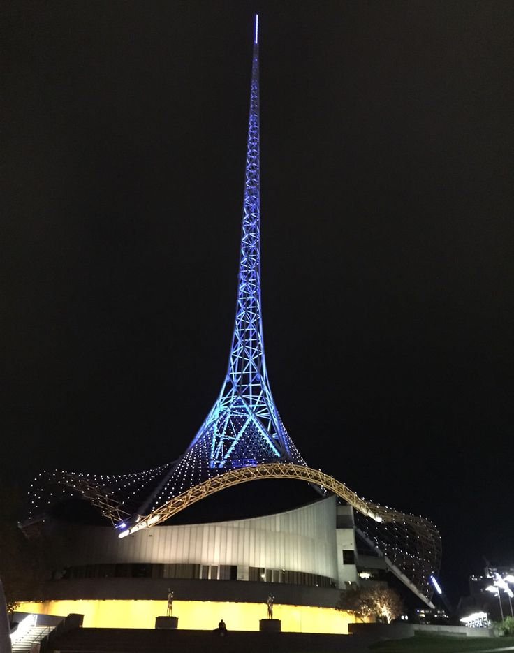 Photo taken by Andrea Crossan.. The arts centre spire, Melbourne