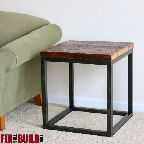 Build Industrial Coffee Table: Reclaimed Industrial Side Table