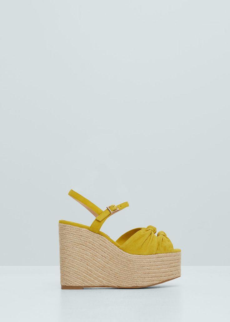 Sandalia piel plataforma | MANGO