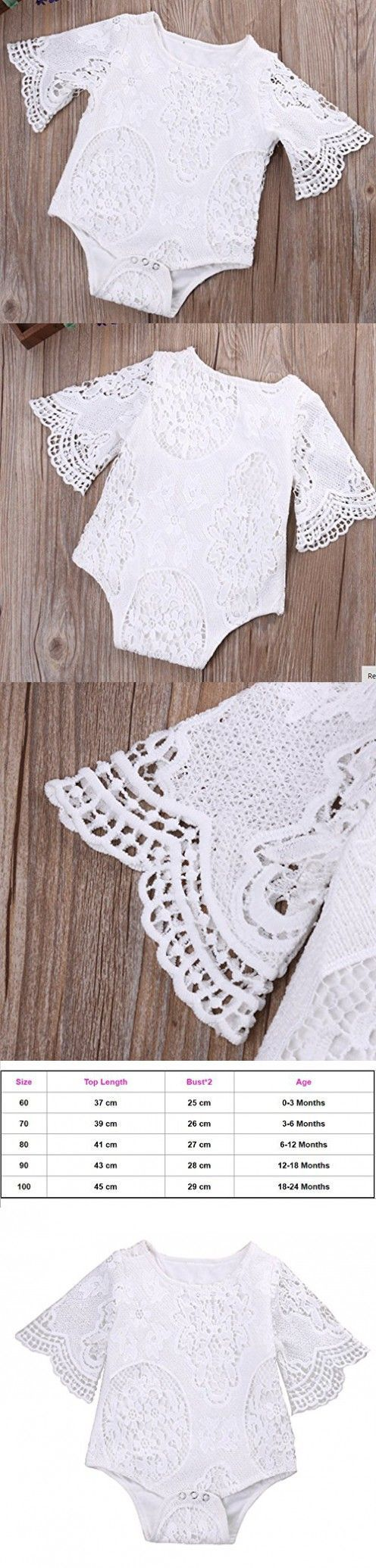 CUTEBABY Infant Baby Girl Summer Hollow Lace Romper Bodysuit One-pieces Jumpsuit