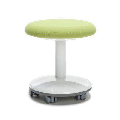 OFM Orbit Vinyl Lab Stool with Wheel Upholstery: Green Static
