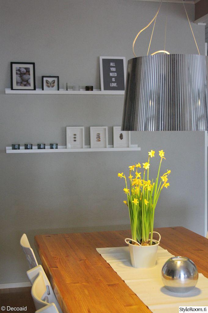 tauluhylly,seinän maalaus,harmaa seinä,keittiö  Sisustus  Pinterest  Harma