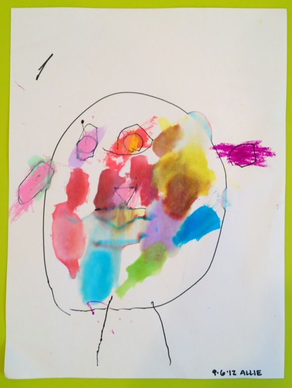 How to talk to preschoolers about self-portraits and some ideas on helping them make their own!