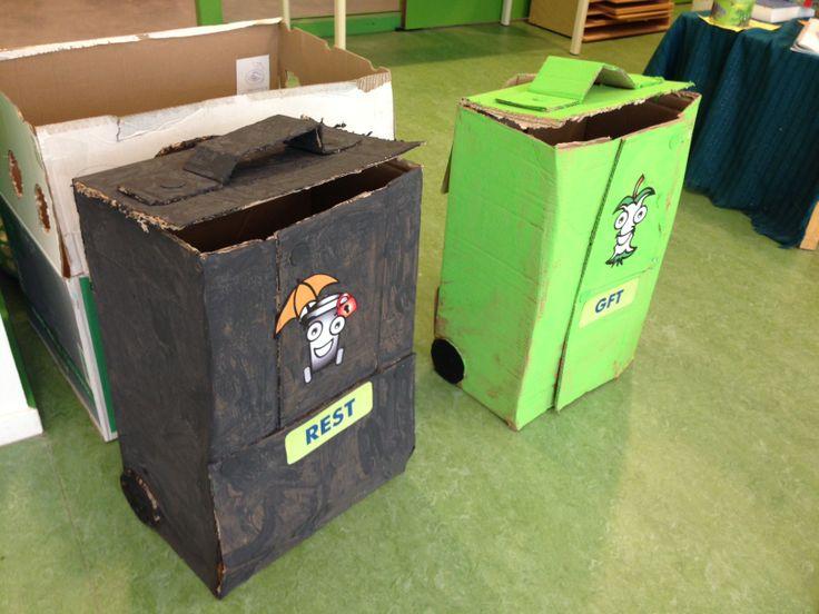De grijze en groene container!