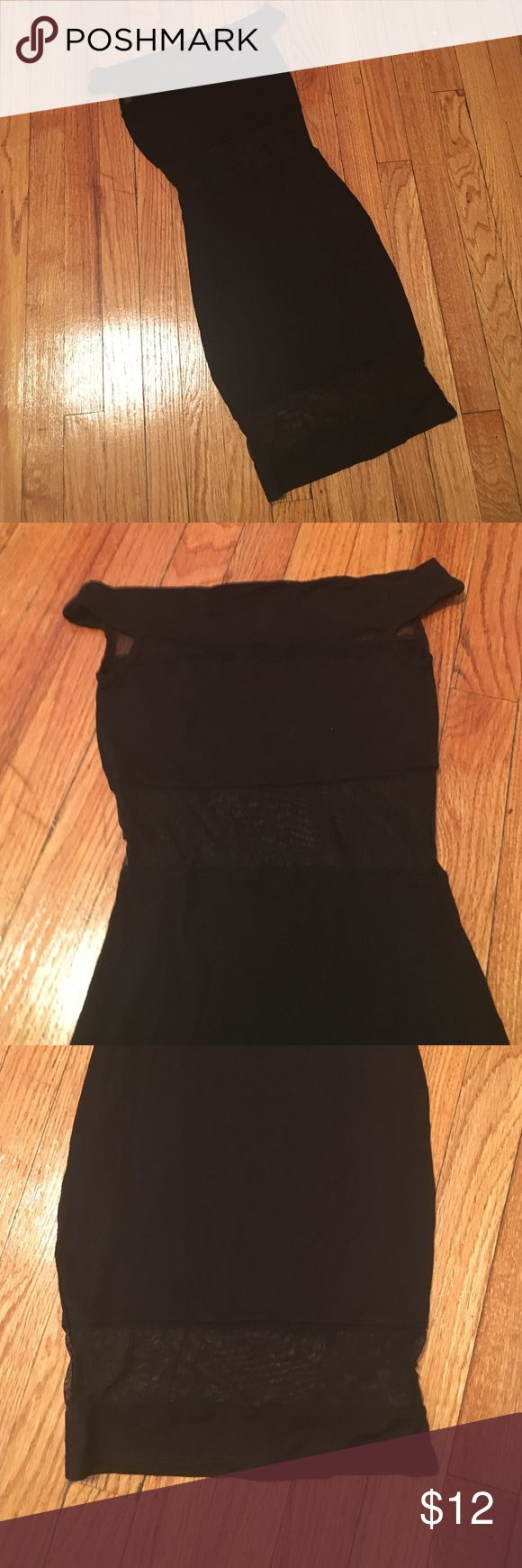 ASOS PETITE BodyCon Dress w/Sheer Detail Excellent condition; no tears, rips or smells; sheer paneling at midsection and at knee ASOS Petite Dresses Midi