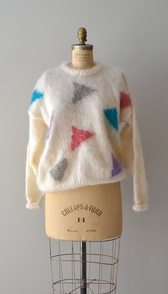 Passing Notes sweater / vintage mohair sweater / by DearGolden