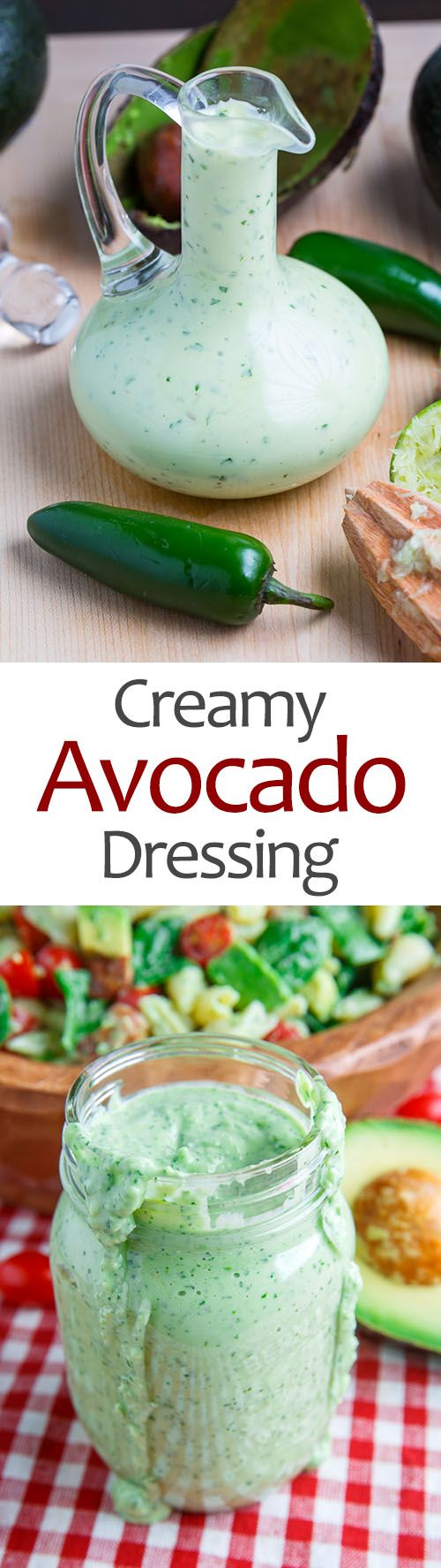 Creamy Avocado Dressing (aka Guacamole Buttermilk Dressing)