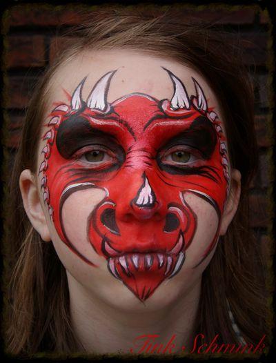Face paint dragon by Tink Schmink www.tinkschmink.com                                                                                                                                                                                 More