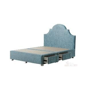 #bedBUILDER® #Customised Venus Queen #Bed: #Ornate #Headboard, #Patterns #Fabric, Sunbeam Atoll Colour, Storage Base, Square Metal Legs, Queen Size #bedroom #inspiration #decor