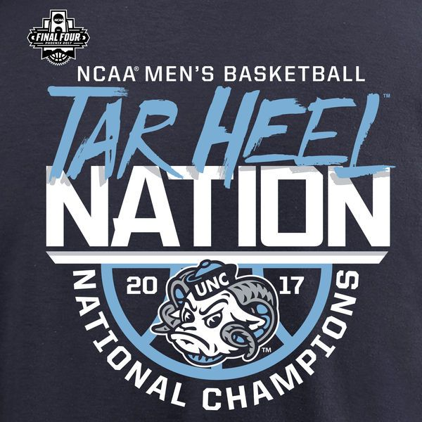 North Carolina Tar Heels Fanatics Branded 2017 NCAA Men's Basketball National Champions Sarival T-Shirt - Navy
