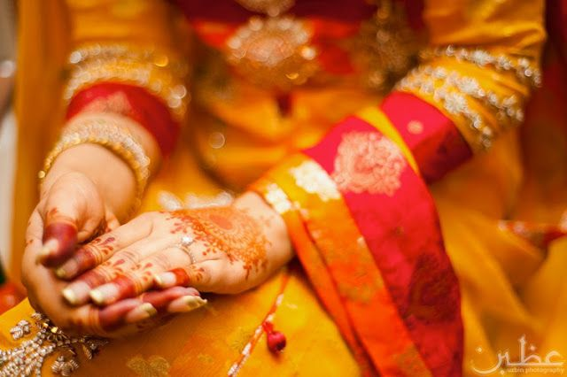 Mehndi And Haldi Ceremony : A i n bridal beauty and style cheery colours for