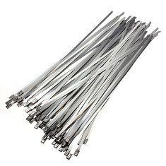 #Banggood 4.6x300mm нержавеющей стали с покрытием из ПВХ самоблокирующиеся кабельные стяжки (66977) #SuperDeals