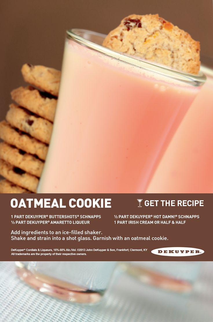 Oatmeal Cookie Mixed Drink