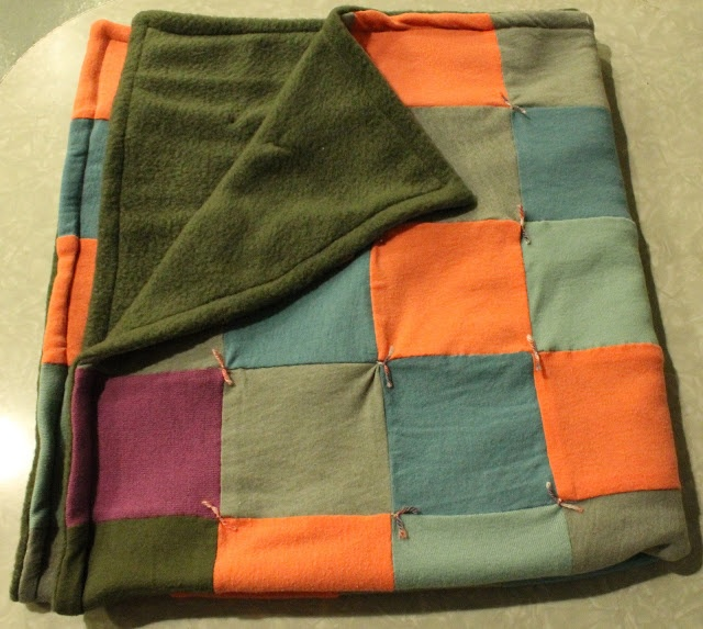Crown Hill T Shirt Quilt With Fleece Backing Sewing