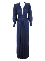 long sleeve evening dress-issa long sleeved silk jersey gown