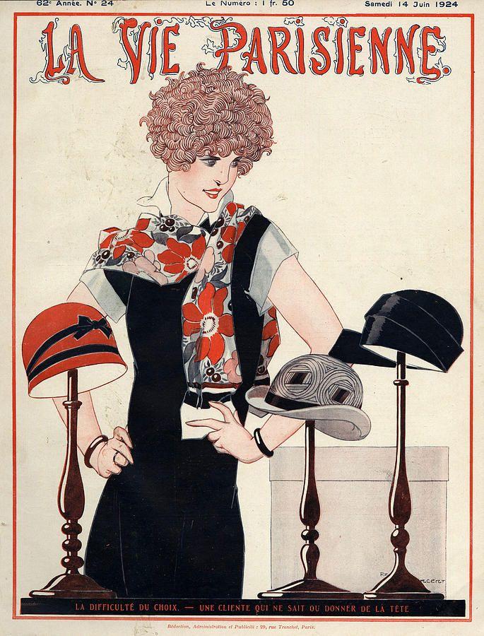 La Vie Parisienne  1924 1920s France Drawing  - La Vie Parisienne  1924 1920s France Fine Art Print