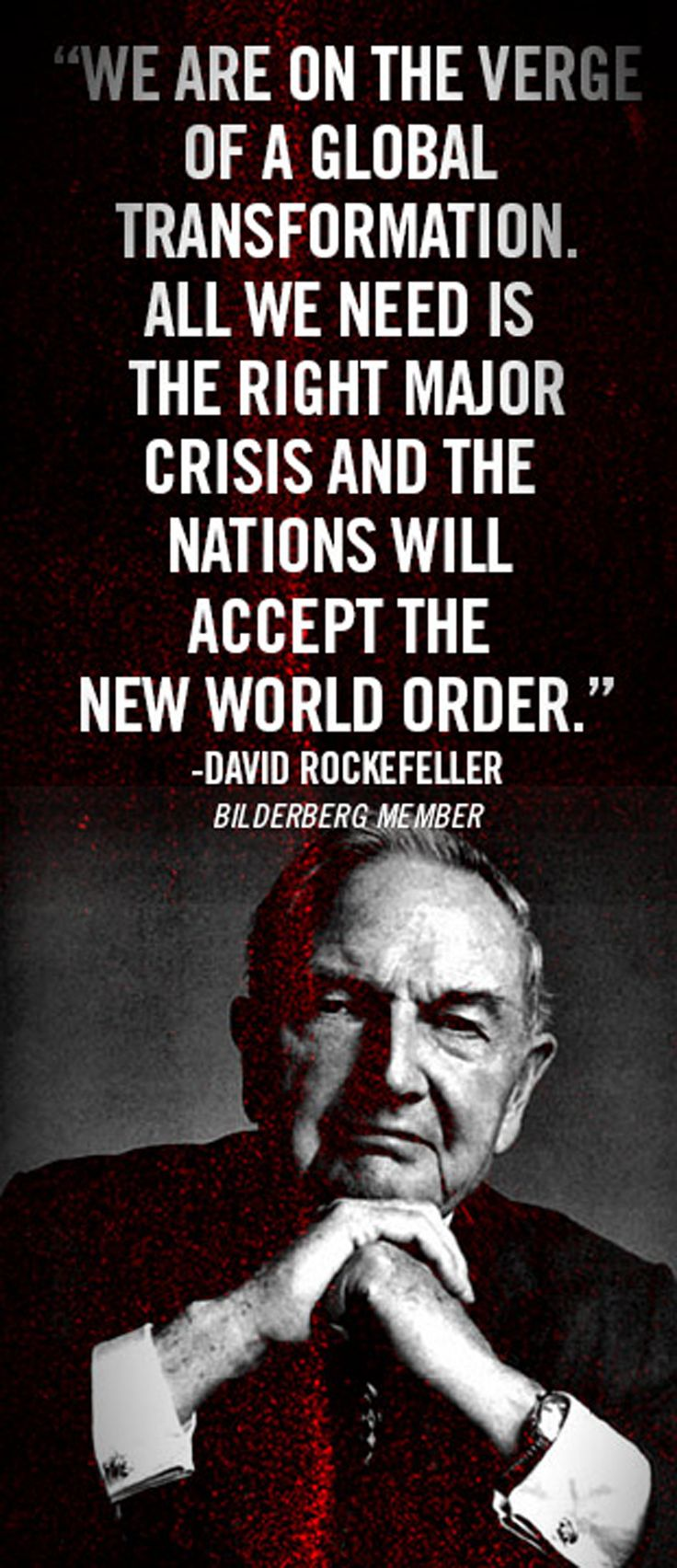 These satanic elites with their satanic cult, Illuminate, will do it soon - The New World Order is underway...WAKE THE HECK UP PEOPLE!!!!