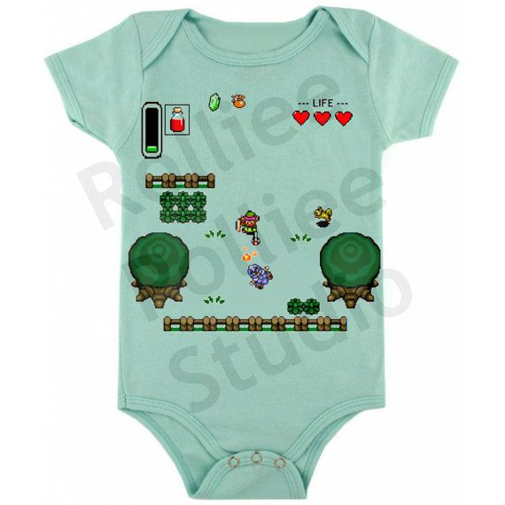 The Legend of Zelda Baby One Piece by RollieePollieeStudio on Etsy, $14.00