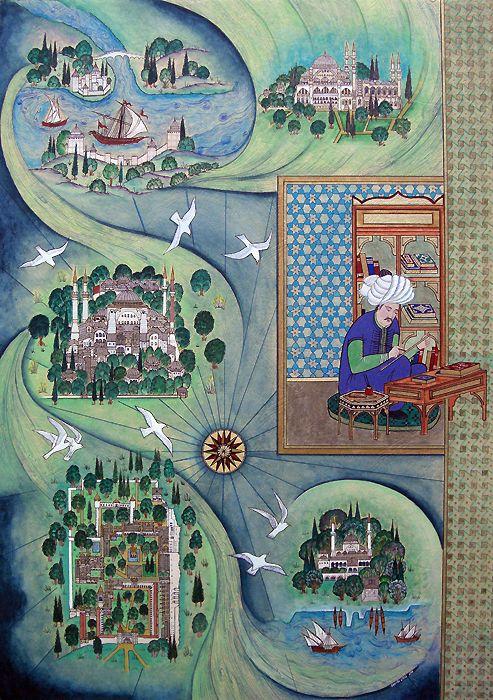 Minyatür Sanatı - Evliya Çelebi ve Sevdiği İstanbul