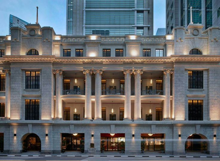 95 best neoclassical boutique images on pinterest for Famous buildings in singapore