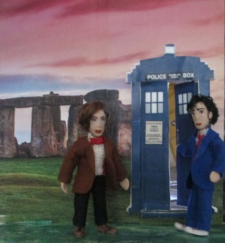 My Dollhouse - TARDIS, the 10th and the 11th (at last I've completed the Doctors)